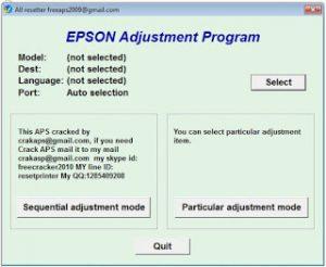 Reset printer Epson L Series