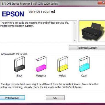 Mengatasi Service Required Epson L200