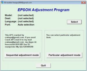 Reset printer Epson L Series