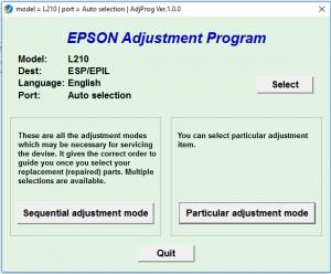 Cara Reset Printer Epson L110 L210 L300 L350 L355