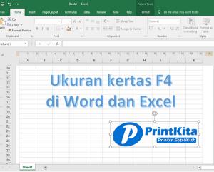 Cara Setting ukuran F4 pada Ms Word dan Excel